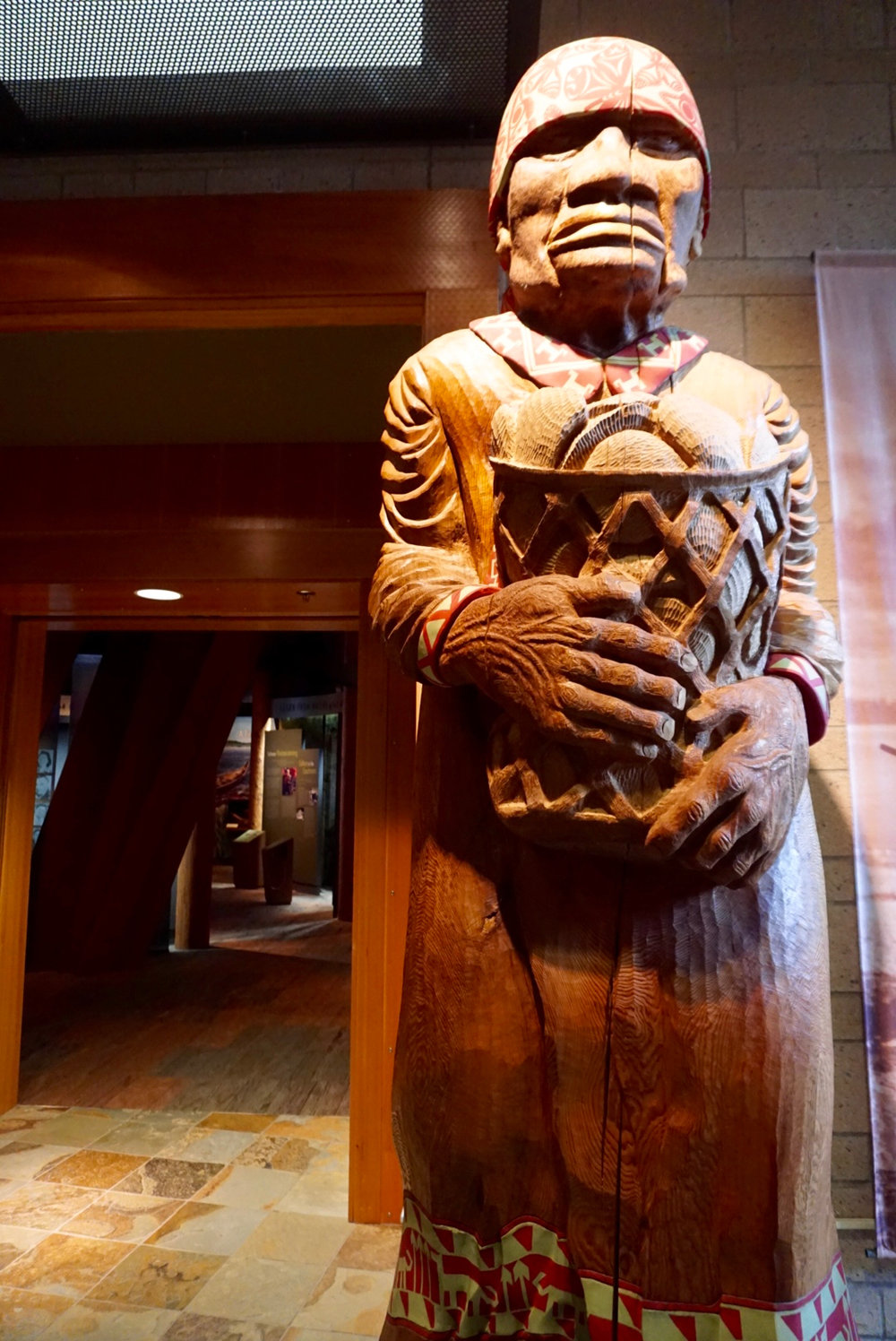 In Canoe Hall, entering the main exhibit