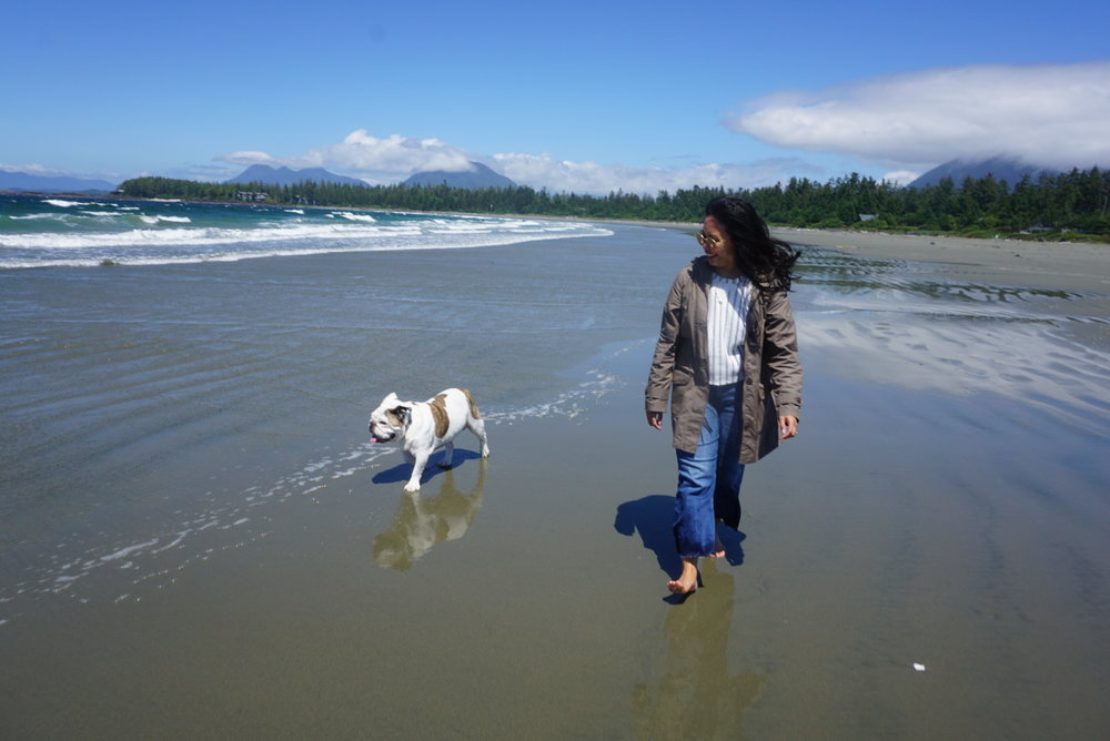 Hanging with Spike Baby at Chesterman Beach <3