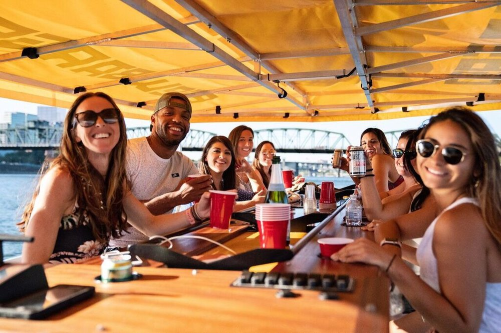 Ending a fabulous trip pedal boating with Brew Barge PDX