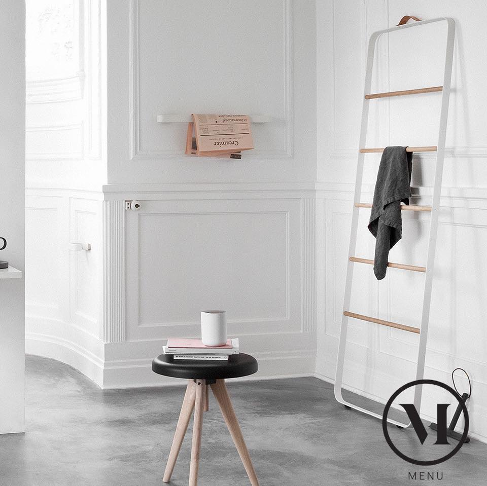 The Menu Towel Ladder (also featured here is the Menu Flip around stool in light ash)