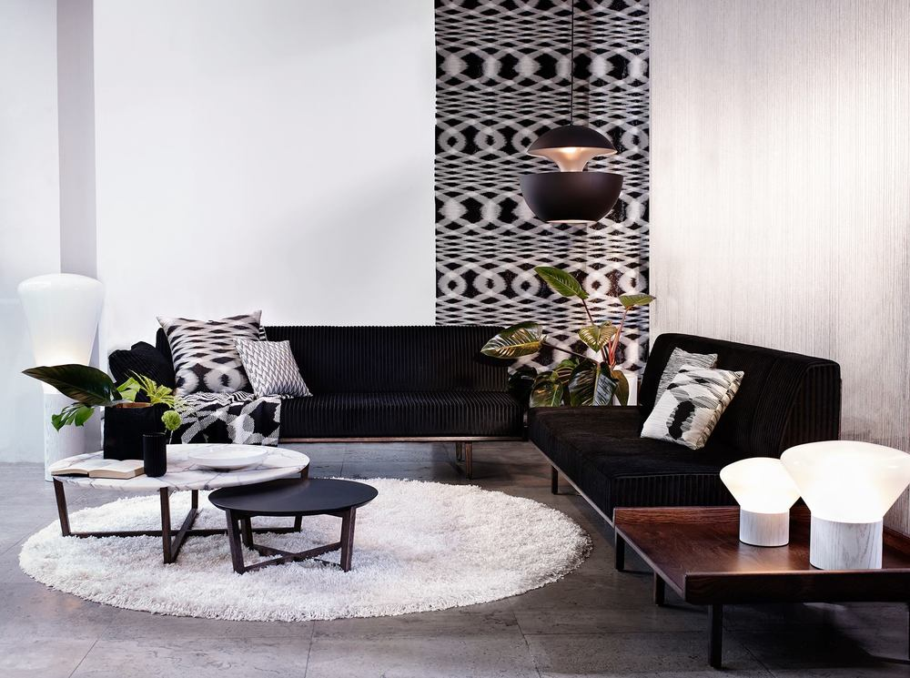 Spence and Lyda's beautiful showroom highlighting Missoni Home 2016 designs