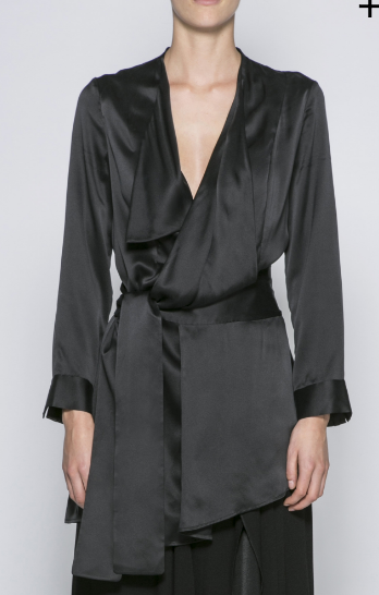 The stunning Bennet silk top in black
