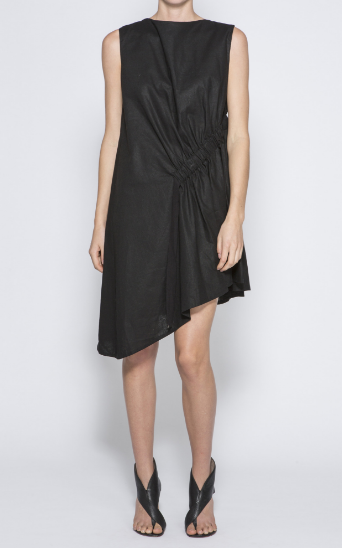 The Arkley Linen dress in black