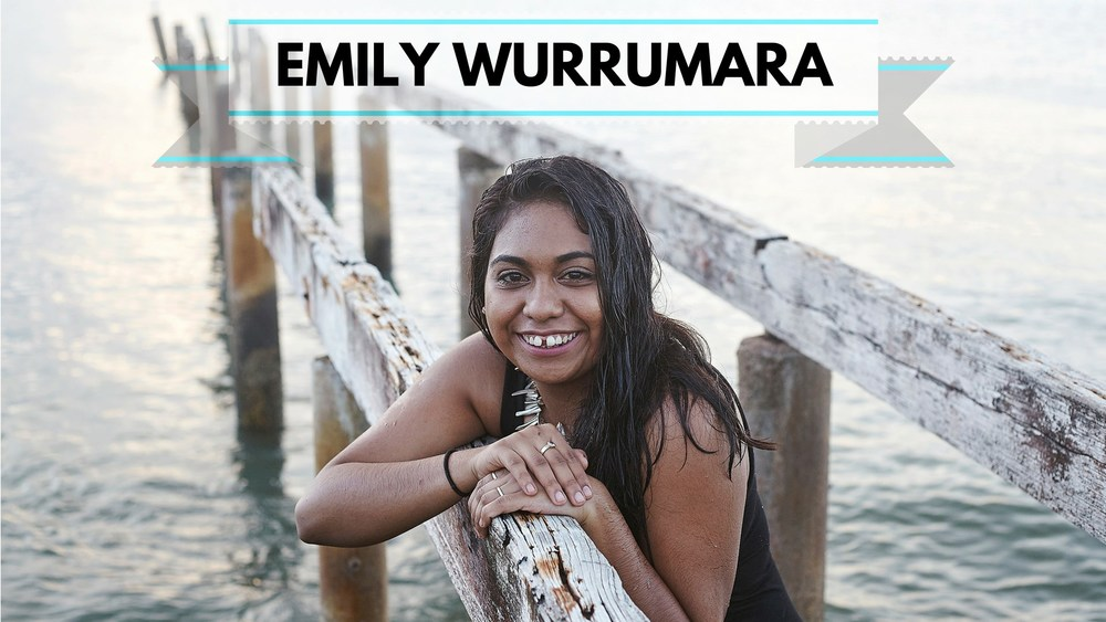 Emily Wurrumara   is from Groote Eylandt in the Northern Territory, Emily recently released her debut EP, Black Smoke, to much acclaim, with rotation on Triple J and ABC.  We're proud to have another performer signing in language.  Her music, performed in English and Annindilyakwa, provides listeners a foray into her culture, language and experiences as a young Aboriginal woman.