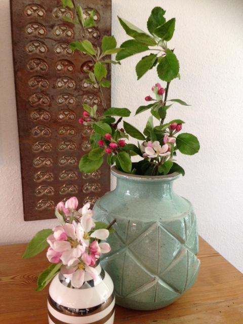 inspiration, æblegren, blomsterdekoration, inspiration, æbletræ, forår, sommer, blomster