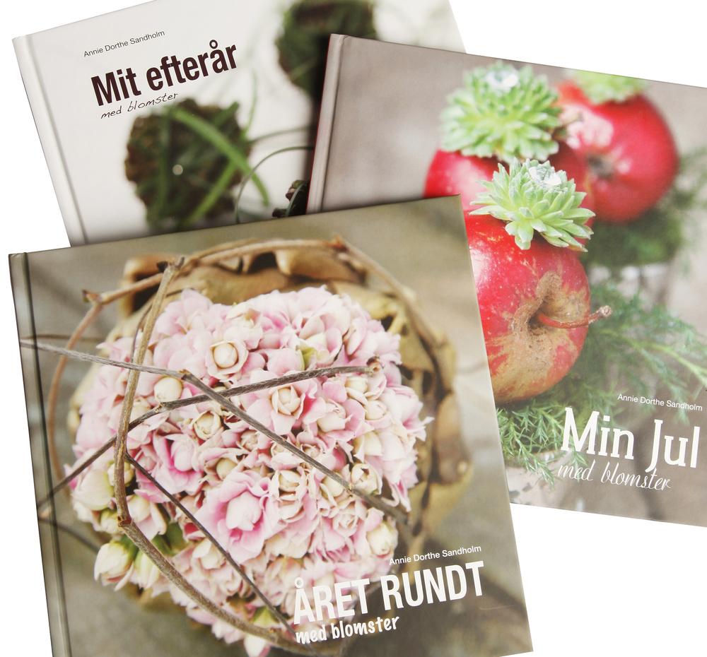 Blomsterbøger, blomsterideer, jule, dekoration,