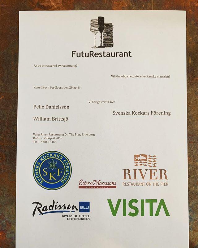 Ni har väll inte missat detta?! 29 april är det öpppethus för alla som är intresserade av restaurang!🍾 @youngchefwest