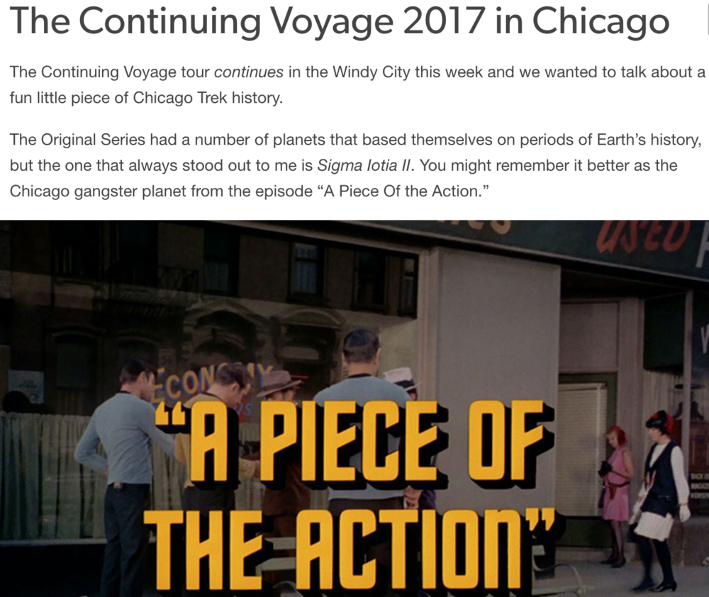 The Continuing Voyage Convention 2017 in Chicago