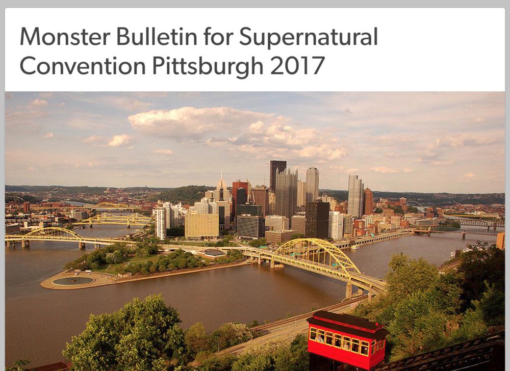 Supernatural Monster Bulletin: Pittsburgh