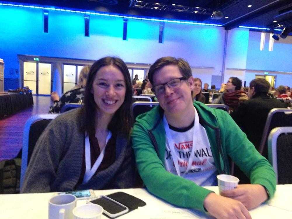 Vi deltok på Lev-Vel konferansen. Her med Vanessa og Fredrik.