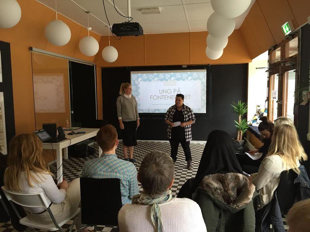 Presentasjon for sykepleierstudentene som var hos oss i praksis.