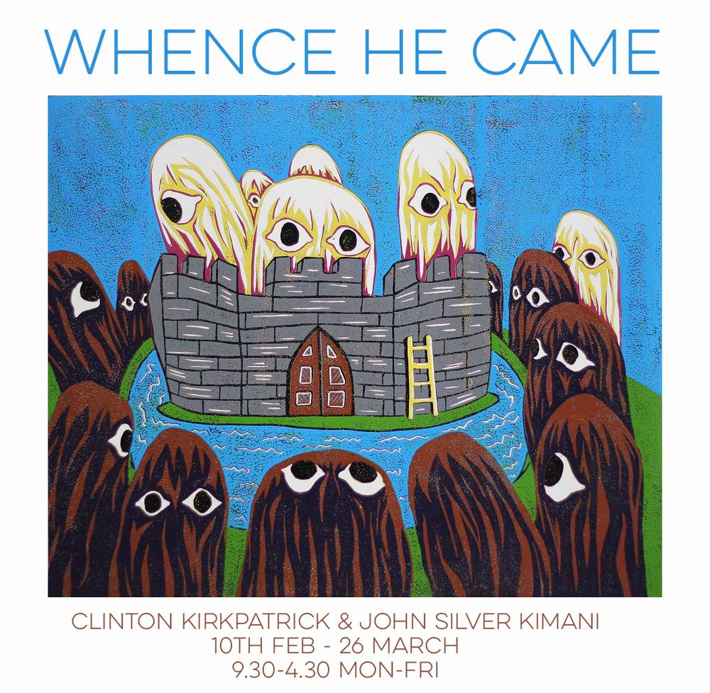 Image: Clinton Kirkpatrick, White's Castle, woodcut 2015