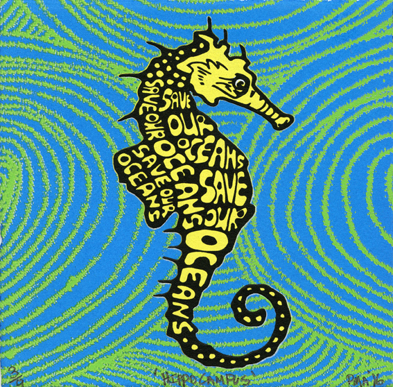 Armstrong, Pamela: Hippocampus screenprint