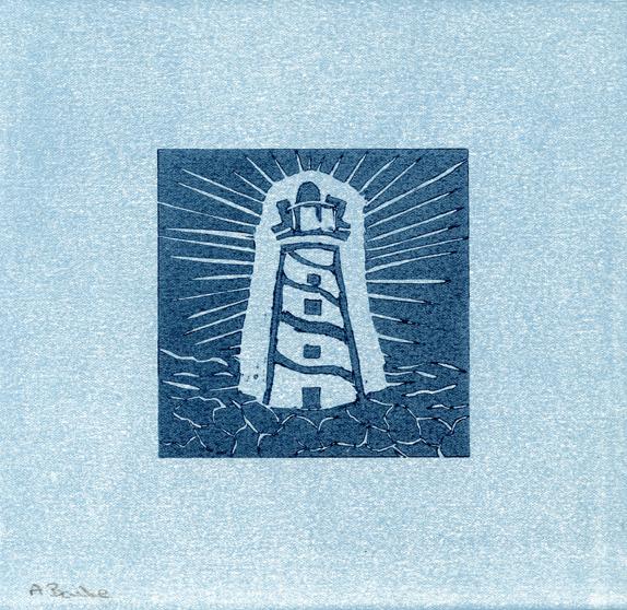 Bailie, Ann: Lighthouse linocut