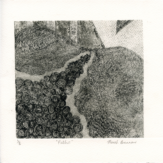 Brennan, Norah: Paths etching