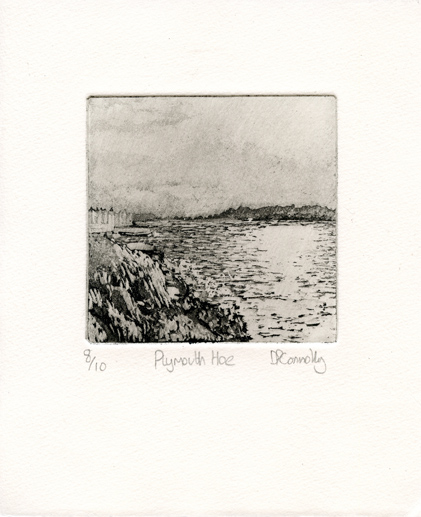 Connolly, Daniel: Plymouth Hoe etching aquatint