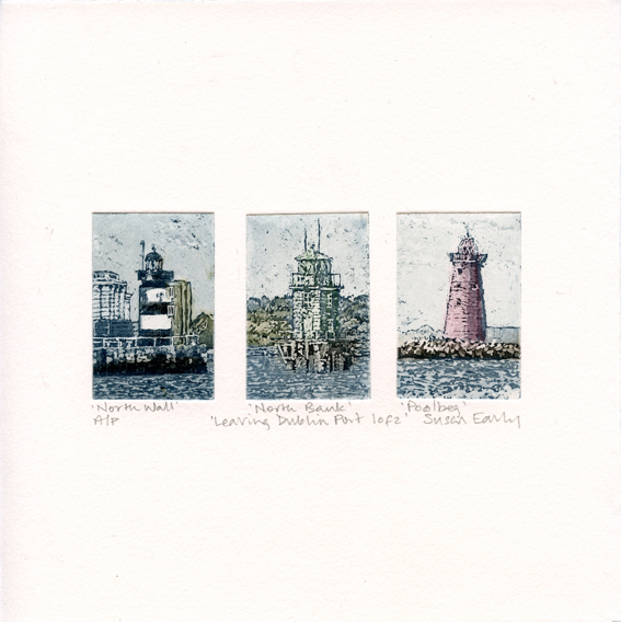 Early, Susan: Leaving Dublin Port 1 of 2 aquatint etching