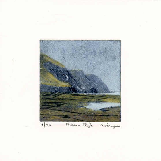 Flanagan, Aidan: Minann Cliffs carborundum drypoint