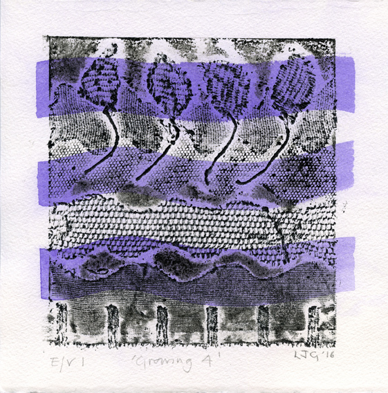 Green, Linda Judith: Growing IV collagraph