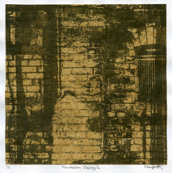 Harforth, Tom: Pendleton Decay1 screenprint collage