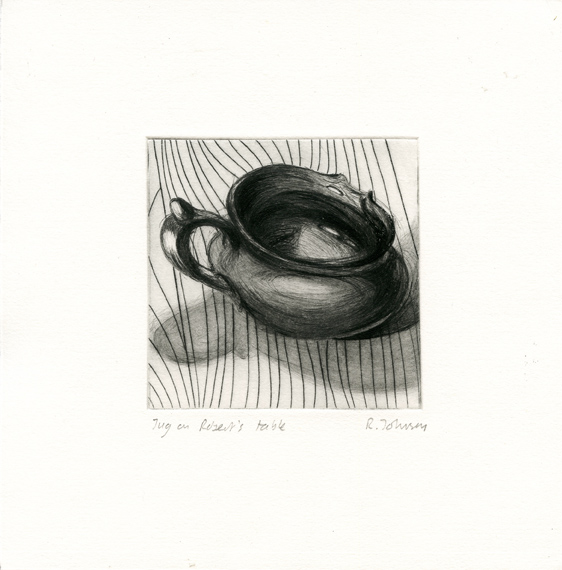 Johnson, Rebecca: Jug on Robert's Table drypoint