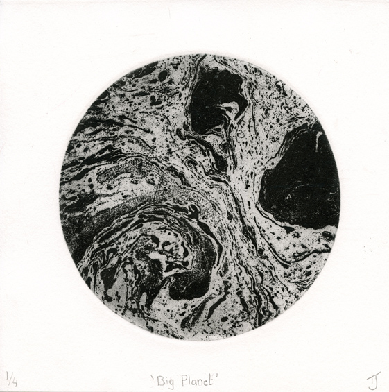 Johnstone, Tara: Big Planet etching