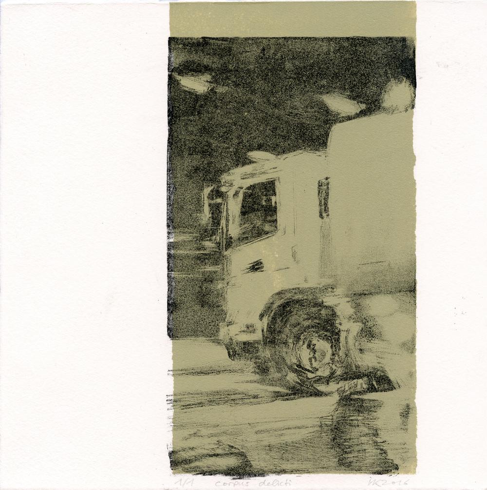 Koestler, Ilko: Corpus Delicti lithography