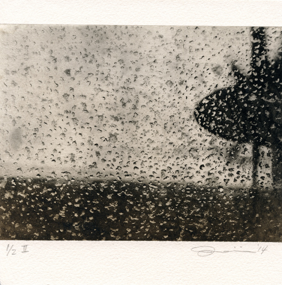 Lee, Jimin: Rainy Day photointaglio