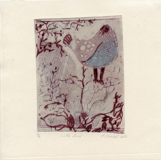Marshall, Kathy: Little Bird etching