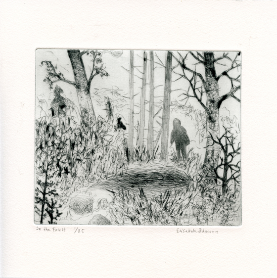 Odmann, Elizabeth: In the Forest drypoint