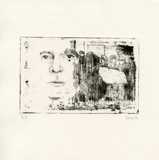 Rommel, Hermann: Burial lithography