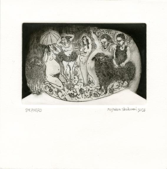 Shabani, Mojtaba: Shepherd etching