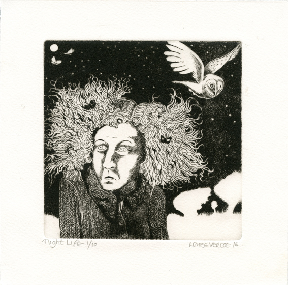 Vercoe, Louise: Nightlife drypoint