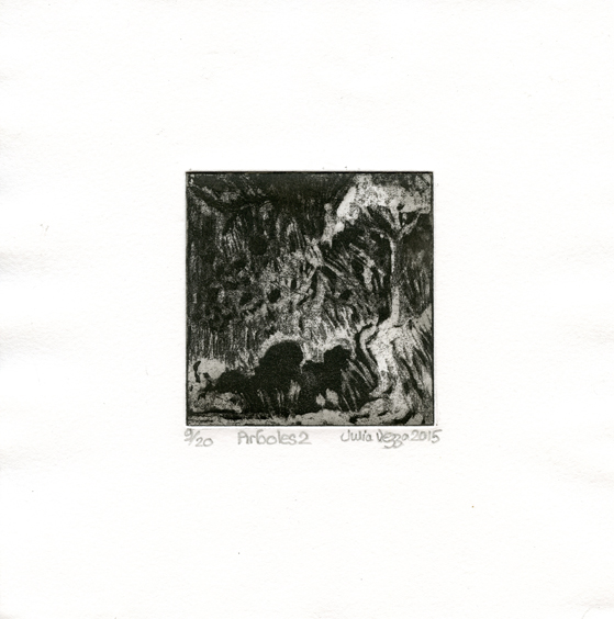 Vezza, Julia: Arboles II etching