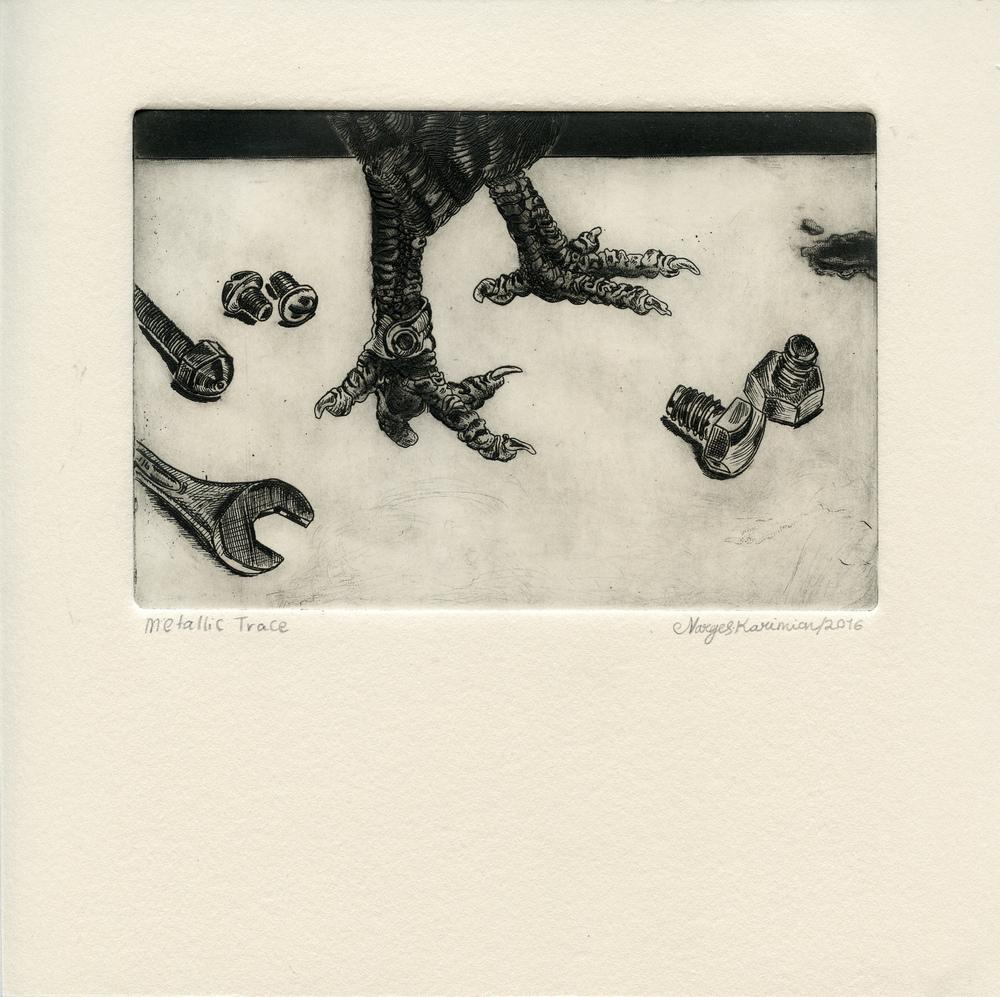 Karimian, Narges Mousavi - Metallic trace - Etching, mezzotint