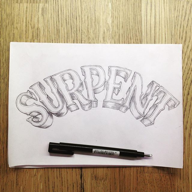 First draft on a sketch for a cool dude!  #handlettering #logo #typography  #lettering