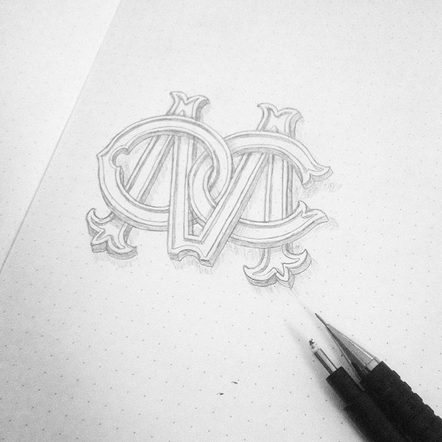 A lot of monograms lately iknooow🎌 #typography #typografi #monogram #logo #type #handlettering #lettering #sketching