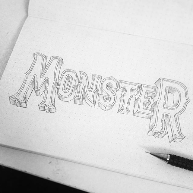 👹👹👹👹👹👹👹 process shot! #sketching #lettering #handlettering #type #logo #typography #calligritype #goodtype
