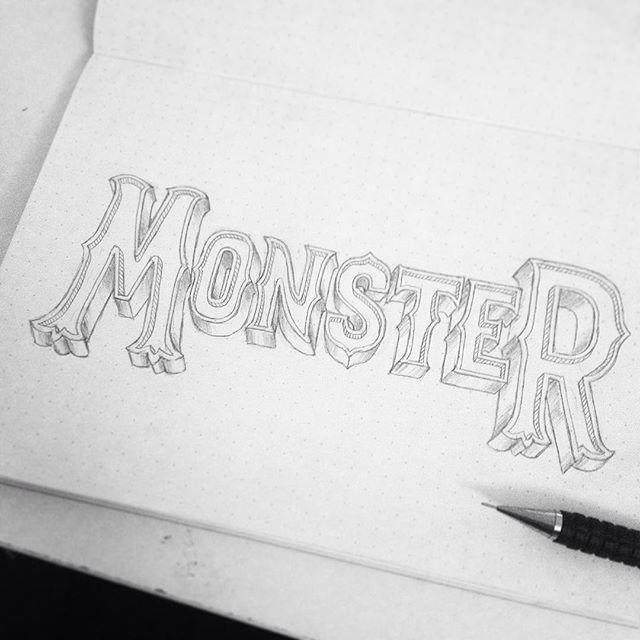 👹👹👹👹👹 process shot! #goodtype #calligritype #typography #logo #type #handlettering #lettering