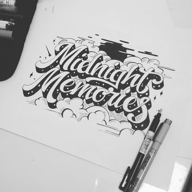 First draft! #process #handlettering #typography #lettering #tshirts #sketch