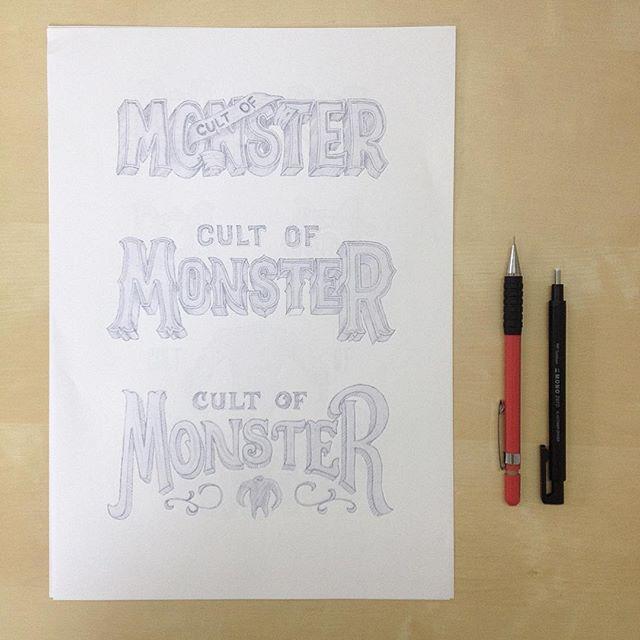 Monster sketching🖊 #sketch #logo  #typography #handlettering #lettering