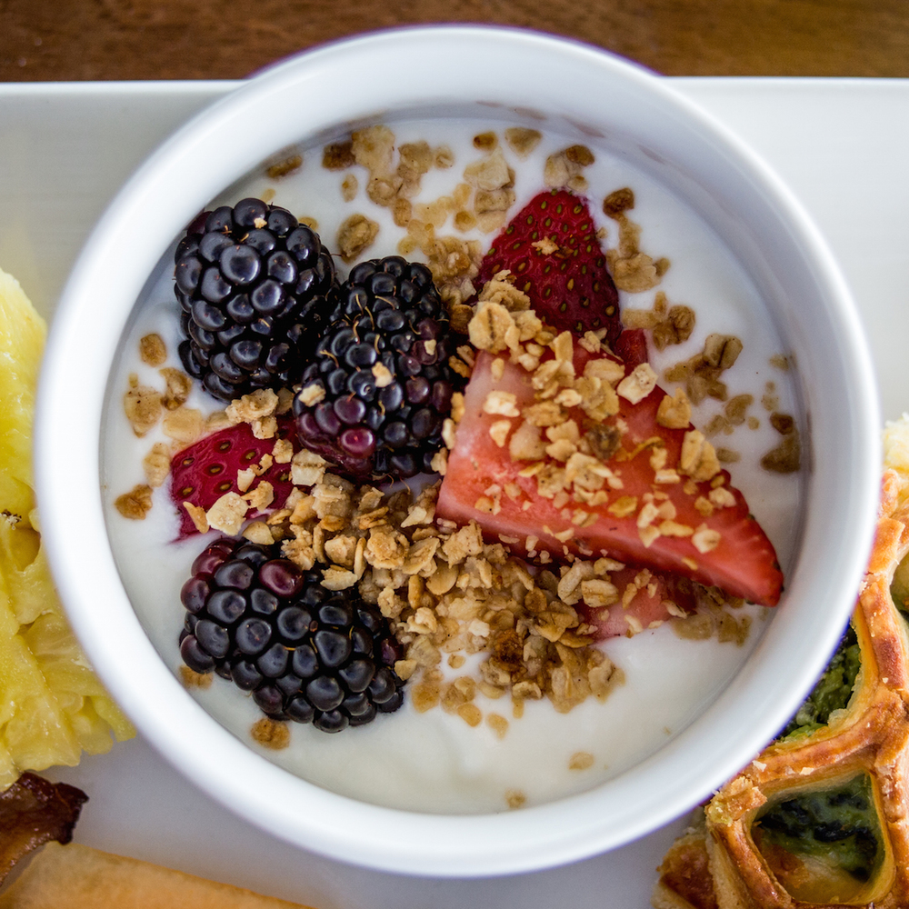 Yogurt, Granola & Fruit