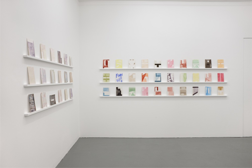 Robert Holyhead. Selected watercolour drawings. Installation at PEER. Photo: Peter White