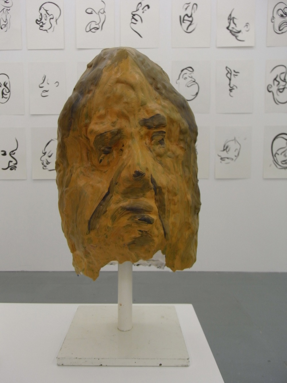 Sam Porritt, Untitled (Head), 2007. Installation view at PEER.