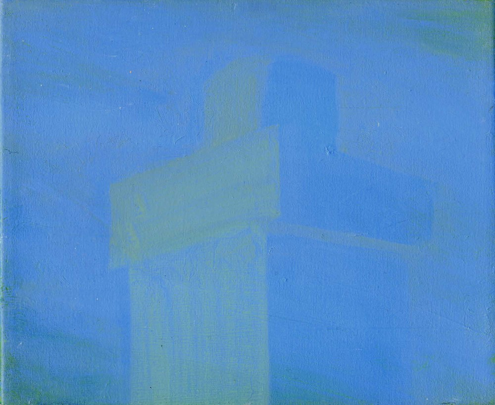 Blue Chimney, 2008 20 x 23.5 cm oil on canvas