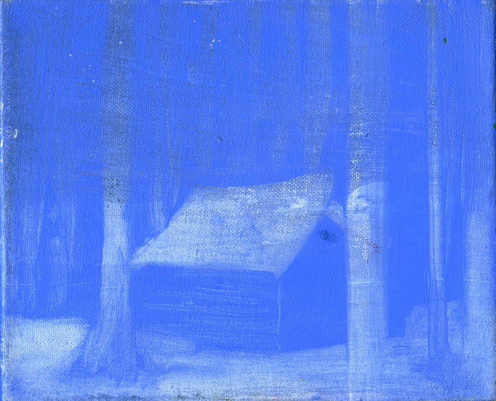 Blue Hut , 2008 17 x 21 cm oil on canvas