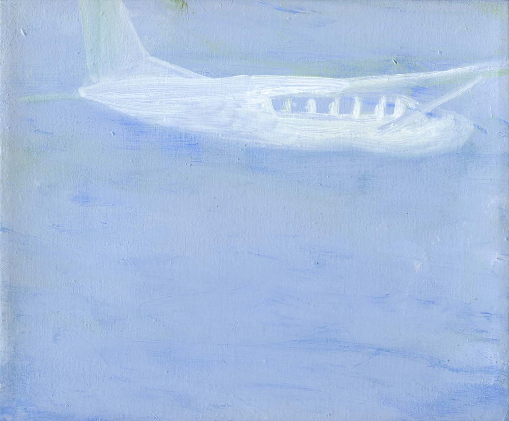 Cloudseeder , 2008 19.5 x 23.5 cm oil on canvas