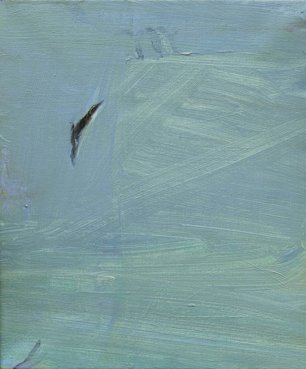 Diver, 2008 26.5 x 23 cm oil on canvas