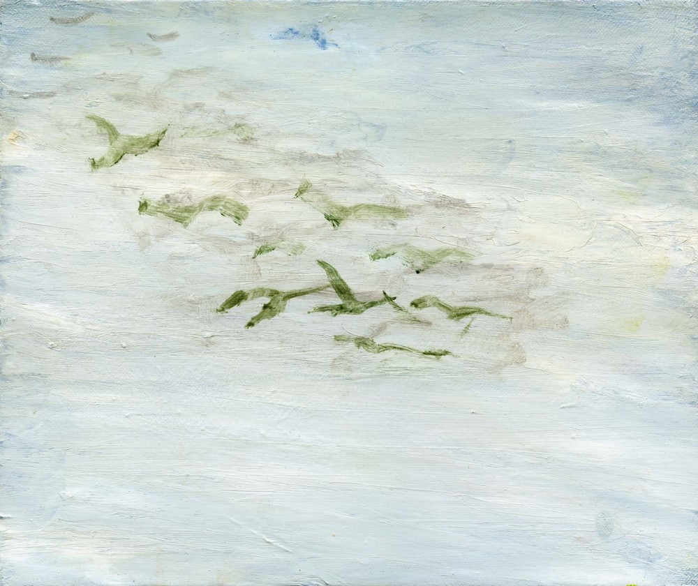 Flock, 2008 25 x 30 cm oil on canvas