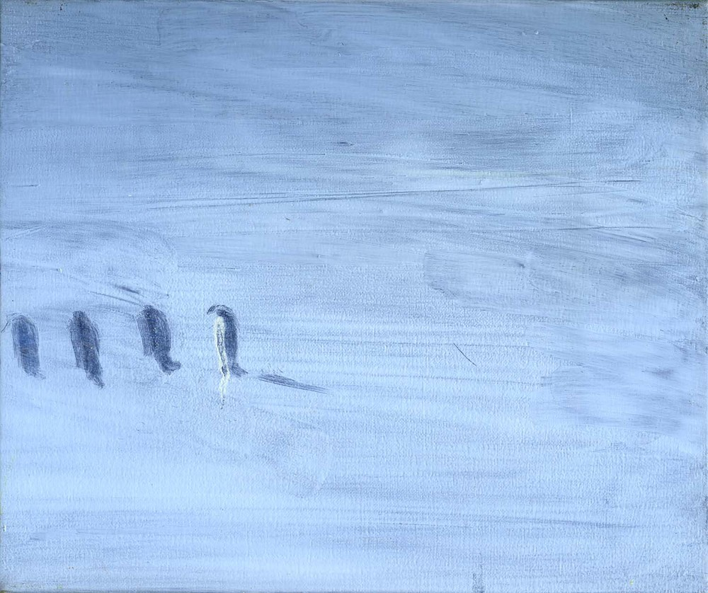 Penguins  2008 20 x 24cm, oil on canvas
